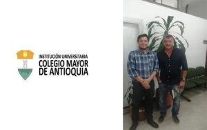 Alianza y Cooperación en proyectos de Investigación junto al Decano Sr. Mauricio Sepulveda del Colegio Mayor de Antioquia