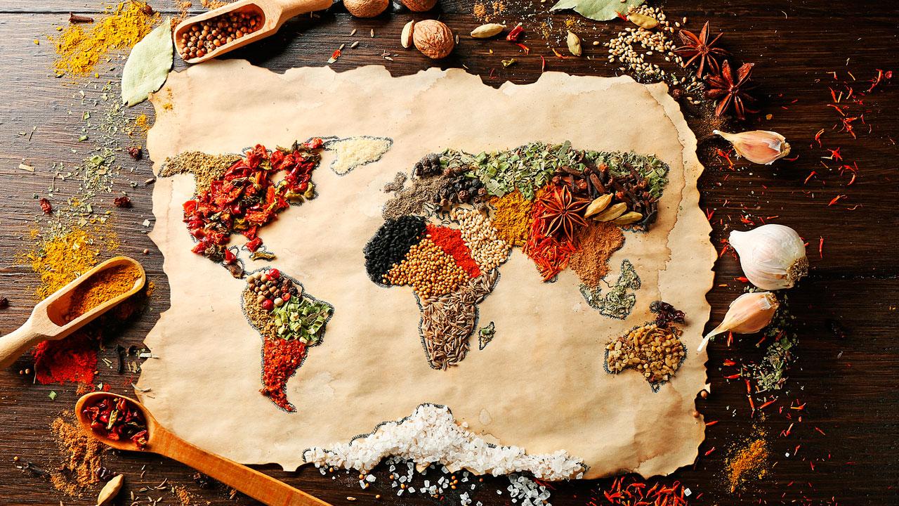 Mapa Mundi realizado con especies