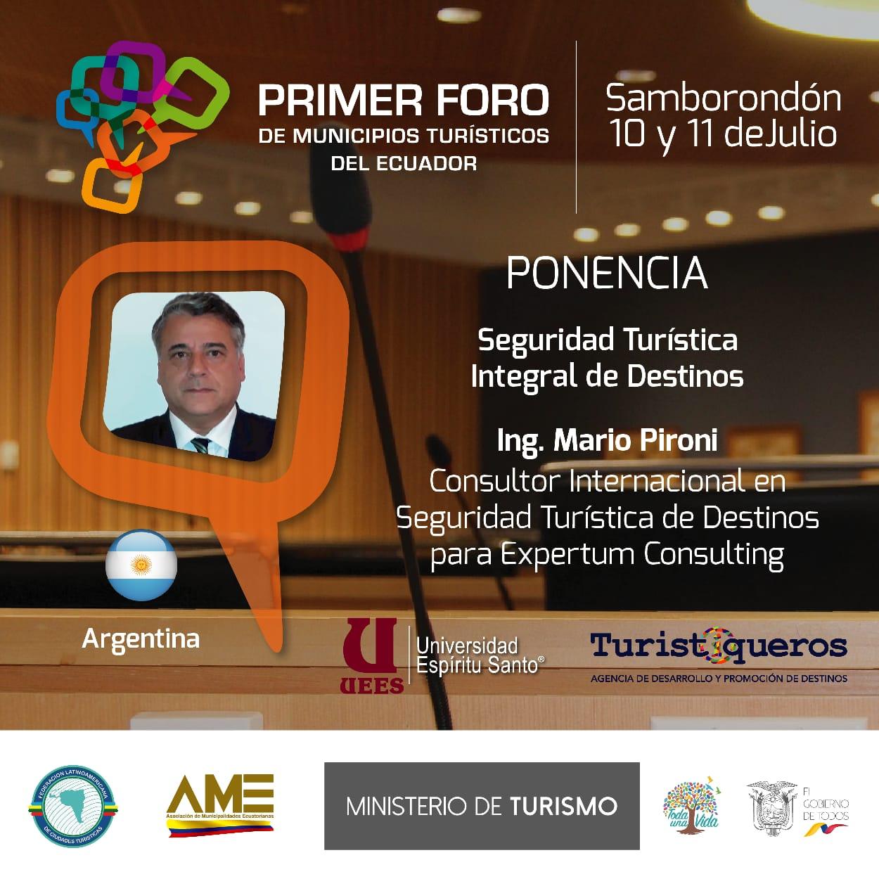 banner primer foro de municipios turísticos de Ecuador
